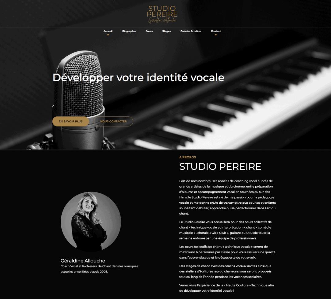 Création site Internet Studio Pereire par 123clic
